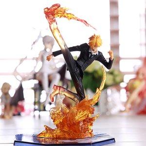 16 см аниме один кусок фигуры VINSMoke SANJI фигурная фигурка JABRE SANJI фигурирует фигуры PVC Collection модели игрушки подарки Y0112