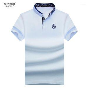 Shabiqi 새로운 브랜드 남성 셔츠 남성 셔츠 짧은 소매 스탠드 칼라 S T 디자이너 6XL 7xl 8XL 9XL 10XL1