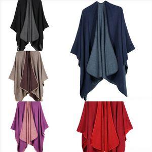 JJ6 Coreano de alta calidad Imating Mink Fur Bufanda Shl Winter Plaid Otoño Color Sólido Cashmere Yiwu Mantón