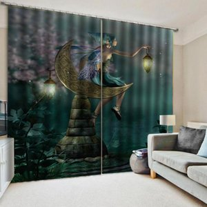 Custom curtains Cartoon fairy tale world 3d Curtains Blackout for Living Room Kids Bedroom Fabric