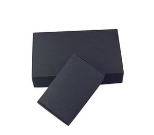 24pcs / lot Noir Carton Kraft Paper Tab -lock -lock Boîte de mariage Boîte de cadeau de mariage Blanc Boîte de bonbons Boîte de bonbons Favors Boîtes de savon DHBE3140