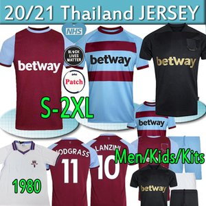 20 21 West Home Soccer Jerseys 2020 2021 United Black Under Ham Lanzini Antonio F.anderson 125th Anniversary Football Shirts Men Kids Kits