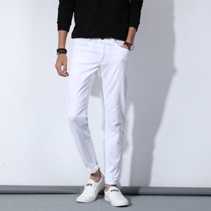 Luxury Men White Jeans Fashion Casual Classic Style Slim Fit Soft Trousers Male Brand Advanced Stretch Denim Pants1
