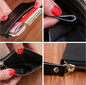 Mini Wallet Pocket Wallets Women Leather Solid Color Simply Coin Key Wallet Leather Card Coin Storage Purse Durable Unisex Wallet YYB3292