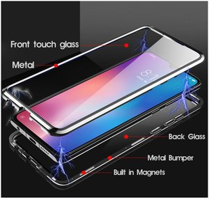 Magnetic Metal Double Sides Glass Case For Xiaomi Redmi Note 10 T Poco X3 Nfc 9 8 9s 8t wmtoJK