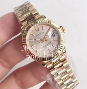 Luxury Ladies 28mm Watches Yellow Gold Ladys Automatic Eta 2671 Movement Watch Women's 279178 Fashion 18K President Date just Wristwatches