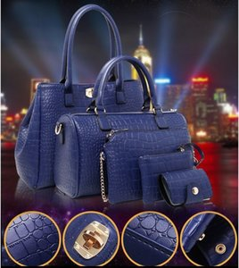 5 Pieces Lot 2021 New Girls Women Bags Crocodile Mother And Daughter Bags Handbags Shoulder Bag Purses Wallets Birthday Present
