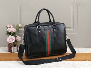 Laptop Computer Bags Fashion Male Luxury Designer Business Set Business briefase for Man High Quality Designer Bag PU leather Briefcase B22