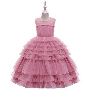 Ins Tutu girls dresses lace tiered girl dress long kids dresses fashion formal dresses pageant dress princess dress big kids clothes B3062