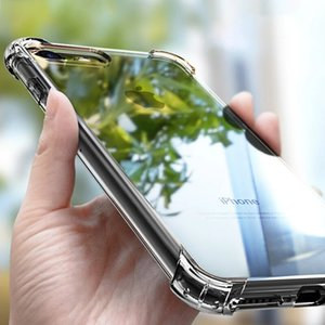 Anti-knock Soft TPU Clear Phone Case For iphone 12 Pro Max 12 Mini Transparent Shockproof Anti-fall Protective Cover For iPhone 11 XS Cases