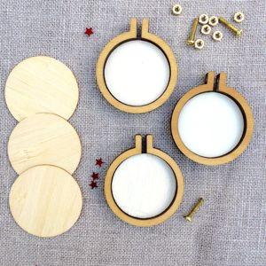 MINI MINI MINI Bordado Stretch Cross Stitch Marco / Hoop Circular Oval DIY Arts Envío gratis