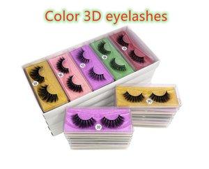 2020 Color 3D eyelashes 3D Mink eyelash False Eyelashes Natural Long Fake Eyelash Extension Thick Cross Faux 3d Mink Eyelashes Eye Makeup
