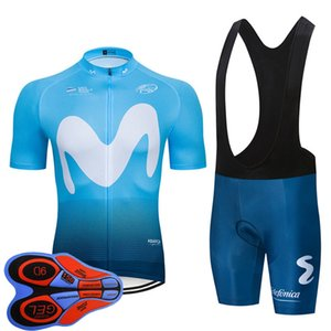 NEW 2020 MOVISTAR TEAM cycling BICYCLING Maillot bottom wear jersey bike shorts set summer quick dry pro MENS Ropa Ciclismo Y20070801
