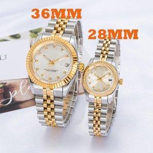 2020 Montre de Luxe Mens Automatic Gold Watch Donne Delle Donne Vestito Completo Acciaio inossidabile Acciaio inossidabile Ambientazione interna impermeabile Coppie luminose stile classico orologi