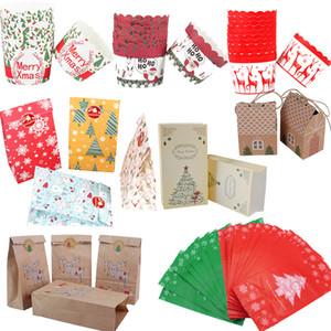 Cyuan Kraft Paper Gift Kawaii Santa Claus Elk Candy Chocolate Cookies Bag Merry Christmas Decorations Navidad 2019 Q1218