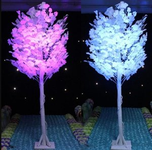 New 1.5M 5feet Height White Artificial Ginkgo Biloba Leaf Maidenhair Trees Roman Columns Road Cited For Wedding Mall Opened Props