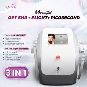 Profesyonel Picosecond Lazer Dövme Temizleme Makinesi Çok İşlevli IPL SHR Saç Remova Cilt Gençleştirme Cihazı
