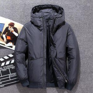 Men's Down & Parkas Men Coat Piumino Uomo Inverno 3 Color Doudoune Jacket Hooded Windproof Outerwear Casual White Coats 4XL1