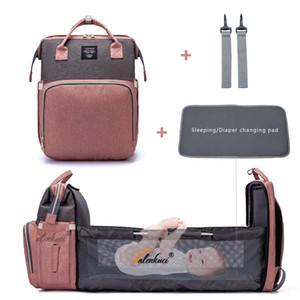 Borsa per pannolini Lequeen per Bambino Kit Kit Bed Backpack Multifunzionale Cappugliamento all'aperto con ganci maternità infermieristica Passeggino Borse Q1221