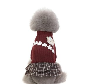 New Fashion Pet Elegant Skirt Autumn And Winter Keep Warm Cat Dog Clothing Plaid Skirt Cat And Dog Clothing Dress wmtwbzR bdegarden