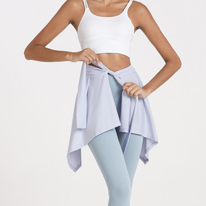 Yoga Skirt Dress with Bandage on Top of A Skirt for Hip Covering Dance Shorts Mini School Tennis Skirt Match for Yoga Leggings