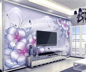 CJSIR Custom Wall Stickers 3D Large Mural Fashion Boutique Pattern Living Room TV Wall Papel De Parede Wallpaper for Walls1