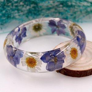 Houbian Новая смола сухой цветочный браслет ручной работы натуральный высушенный цветок браслет ювелирные украшения лучший день рождения 1