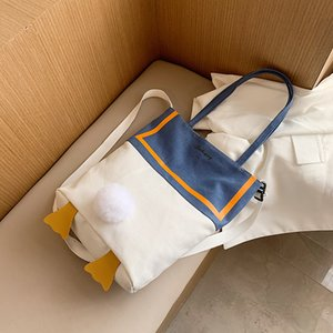 Lovely Creative Cartoon Single Shoulder Handbag New fashion student Canvas Slant Bag