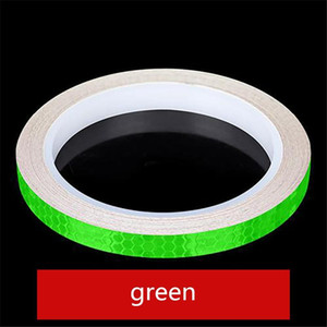 1pc 8 Meter Car Styling Reflective Stripe Tape Motorcycle Bike Body Rim Wheel Stripe Tape Stickers Decorative Blue Red Yellow H bbyQvr