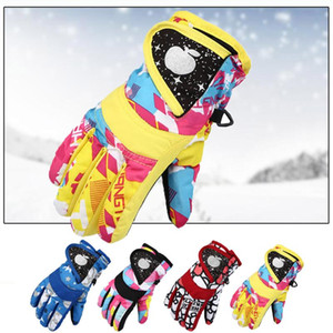 Winter Gloves For Kids Boys Girls Snow Windproof Mittens Outdoor Sports Skiing Gloves Touch Screen Racing Motocross Gear d3