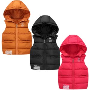 2021 New Children Down Vest Girls Hooded Jacket Winter Waistcoats Boy Baby Autumn Outerwear Coats 3-8 Years Kids Warm Clothes LJ201130