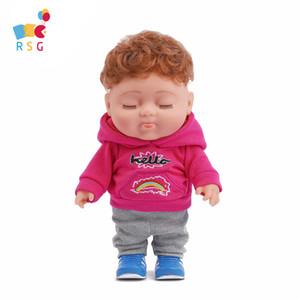 RSG Bebe Reborn Doll Toy For Girls Accompany Doll Close Eye Boy Cute Doll Kids Christmas Birthday Gift Fast Shipping Z1127