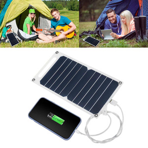 Kit di pannelli solari flessibili 5W 6V 12V cella solare 5V Caricabatterie USB per cellulare Power Bank Battery Hiking Camping impermeabile 2020