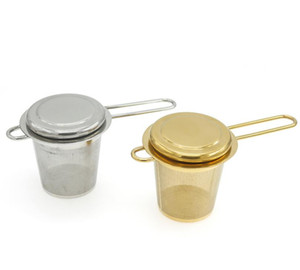 Stainless Steel Gold Tea Strainer Folding Foldable Tea Infuser Basket for Teapot Cup Teaware Wholesale SN4941