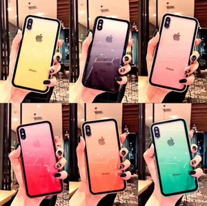 10Pcs lot Acrylic Gradient Clear Phone Case For iPhone 12 mini 11 Pro Max SE2 X XR XS Max 8 7 6S Plus Rainbow Shockproof Protect