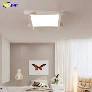 FUMAT Modern minimalist white square LED ceiling lamp Nordic home interior lighting living room bedroom study kitchen decoration lamp