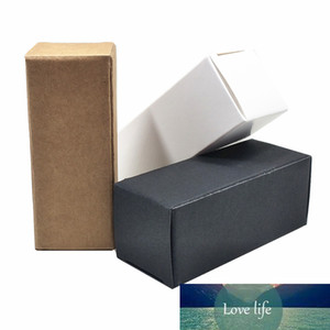 50Pcs lot White Black Brown Kraft Paper DIY Crafts Packing Box Paperboard Package Box Small Perfume Bottle Foldable Pack Box