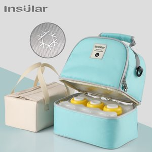 Mummy Diaper Backpack Baby Milk Food Storage Thermal Bag Warmer with Feeding Bottle Thermal Keeps Drinks Cool Travel Backpack F1214