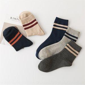 0adle Autumn New Parallel Bar Stripe Stripe Casual Parallel Bar Cotton Cotton Cotton Zhuji calze sottili calze da uomo