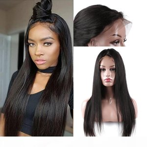 Brazilian Silky Straight Human Hair Lace Front Wig With Baby Hair Adjustable Pre Plucked Human Hair Lace Front Wig Black Women Natural Color