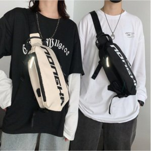 Reflective Crossbody Chest Bag Nylon Waist Belt Bag Phone Pack Unisex Hip hop Waterproof Fanny pack Fashion Shoulder Waist