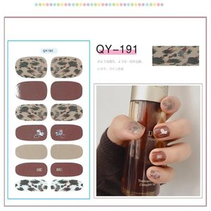 14tips set Full Cover Nail Stickers Wraps New Styles DIY Adhesive Sliders for Women Beauty Art Decals Manicure Waterproof