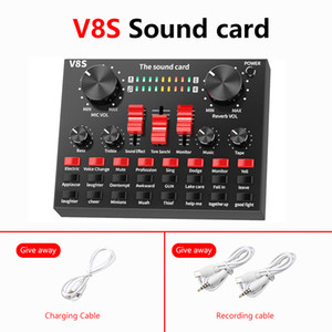 V8S Bluetooth USB Carte de son externe Casque Casque Microphone Webcast Divertissement personnel Streamer Live Diffusion pour ordinateur