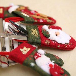 Cartolatori di Natale Forcella Borse Cucchiaio per tableware Holder Cover Guanti di Natale Dining Storage Arredamento Decorazioni natalizie Borsa Mare Shipping BWC4166