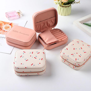 PU Leather Women Travel Jewelry Storage Bag Earrings Rings Home Organizer Necklace Watch Make Up Tool Case Accessories Supplies