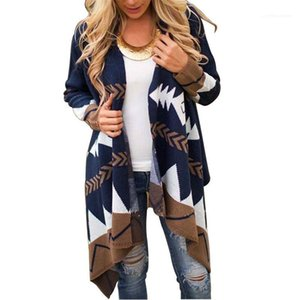 Color Long Sleeve Cloak Plus Size Female Clothing Dropshipping Autumn Winter Womens Designer Sweater Coat Fashion Contrast