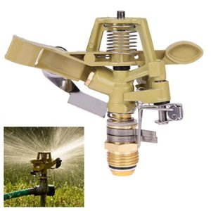 1 2 Inch Copper Rotate Water Sprinkler Spray Nozzle Connector Rocker Arm Garden Irrigation Fountain Watering System Garden Tools 201211
