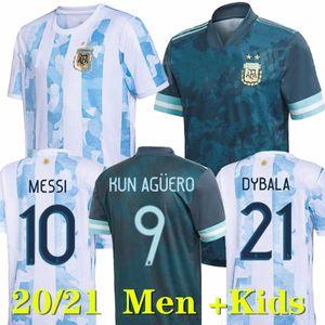 2020 2021 Argentina Jersey Messi Dybala di Maria Higuain Kun Aguero Lautaro Football Polo Camicie Pantaloni Pantaloni Maschere Maschere da calcio
