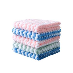 스트라이프 워터 흡수 수건 주방 청소 3 색 천으로 Dishtowel 양이온 정전기 방지 테이블 목욕 홈 액세서리 새로운 1 48HR2 G2