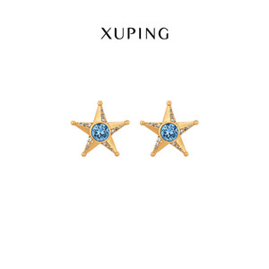 jewelry new simple personality five-pointed star earrings factory wholesale female JJ-E12
